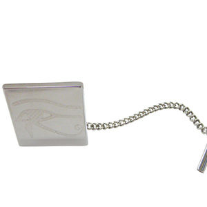 Silver Toned Etched Eye of Horus Tie Tack